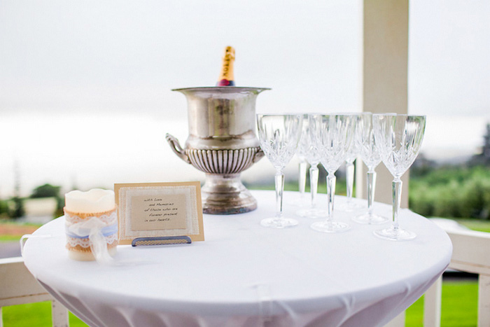 post ceremony champagne table