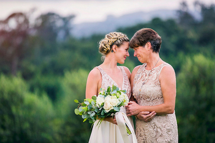 bride and her mother head to head