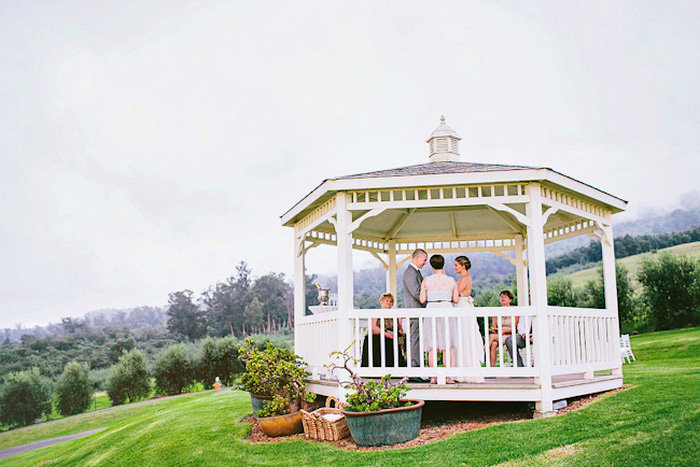 gazebo wedding ceremony