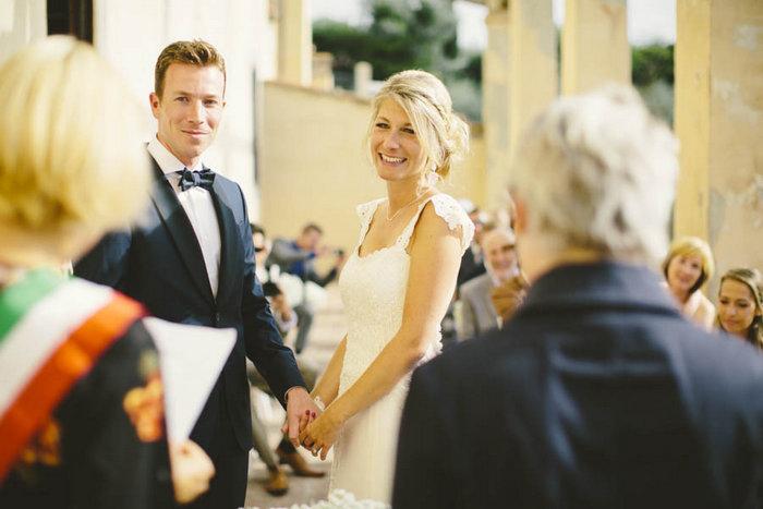 italian outdoor wedding ceremony