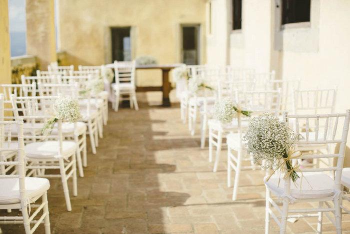 florence wedding ceremony set-up