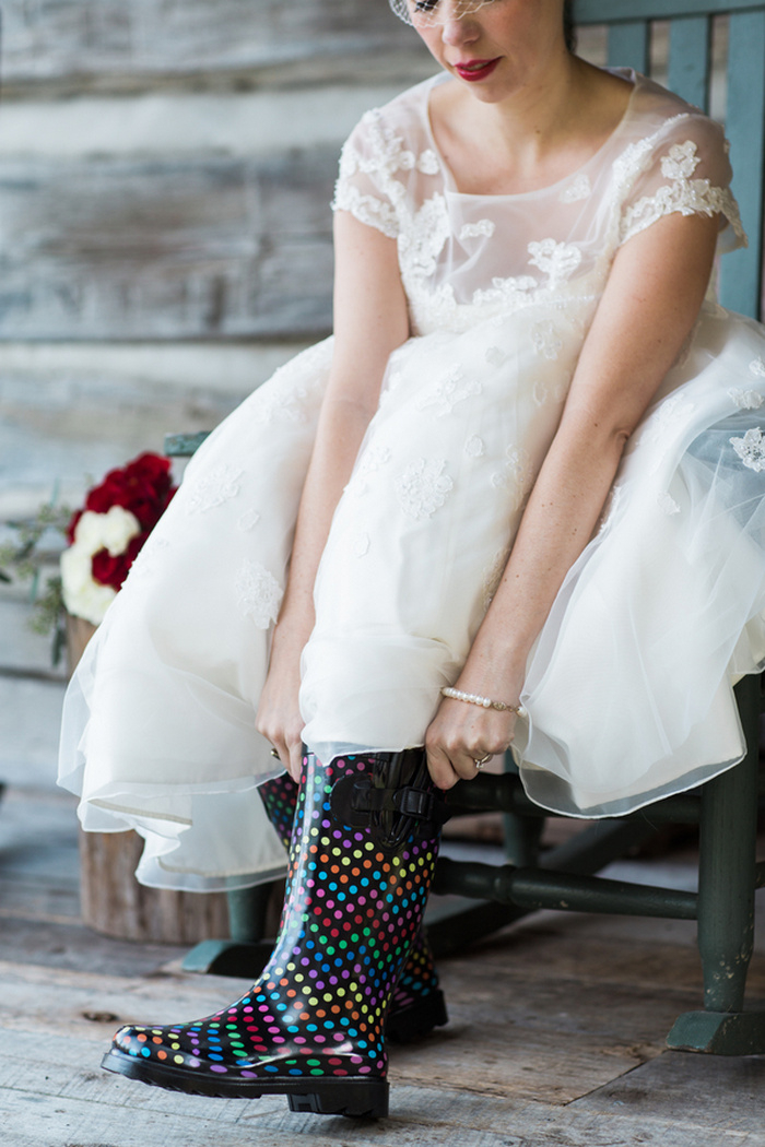 bride rainboots