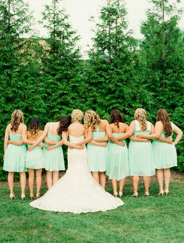 back wedding bridesmaids