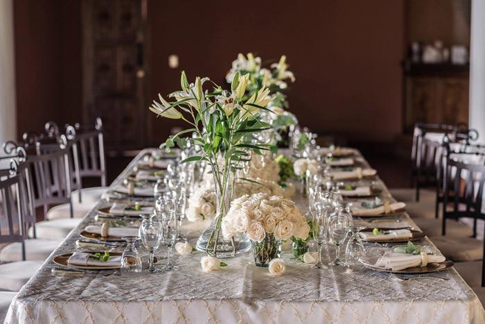 reception dinner setting
