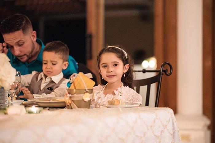 kids at wedding reception