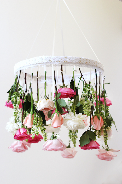 diy wedding chandelier