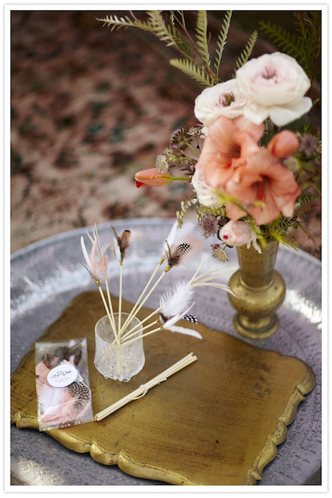 feather topped drink stirrers