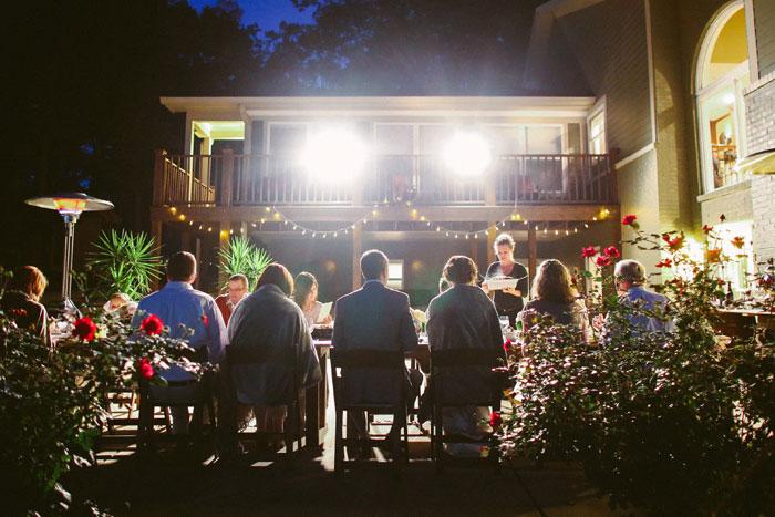 outdoor reception dinner