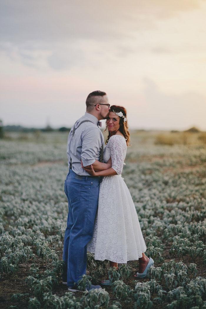 Intimate Texas barn wedding