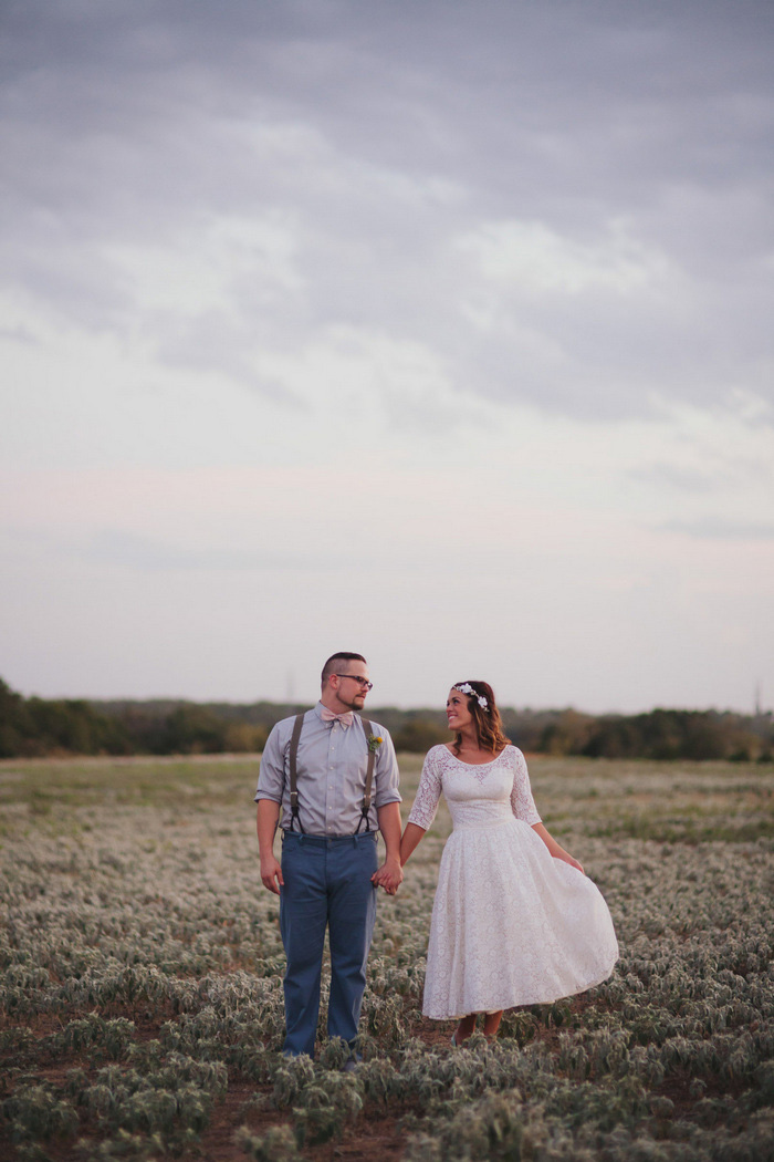 wedding portrait on the farm