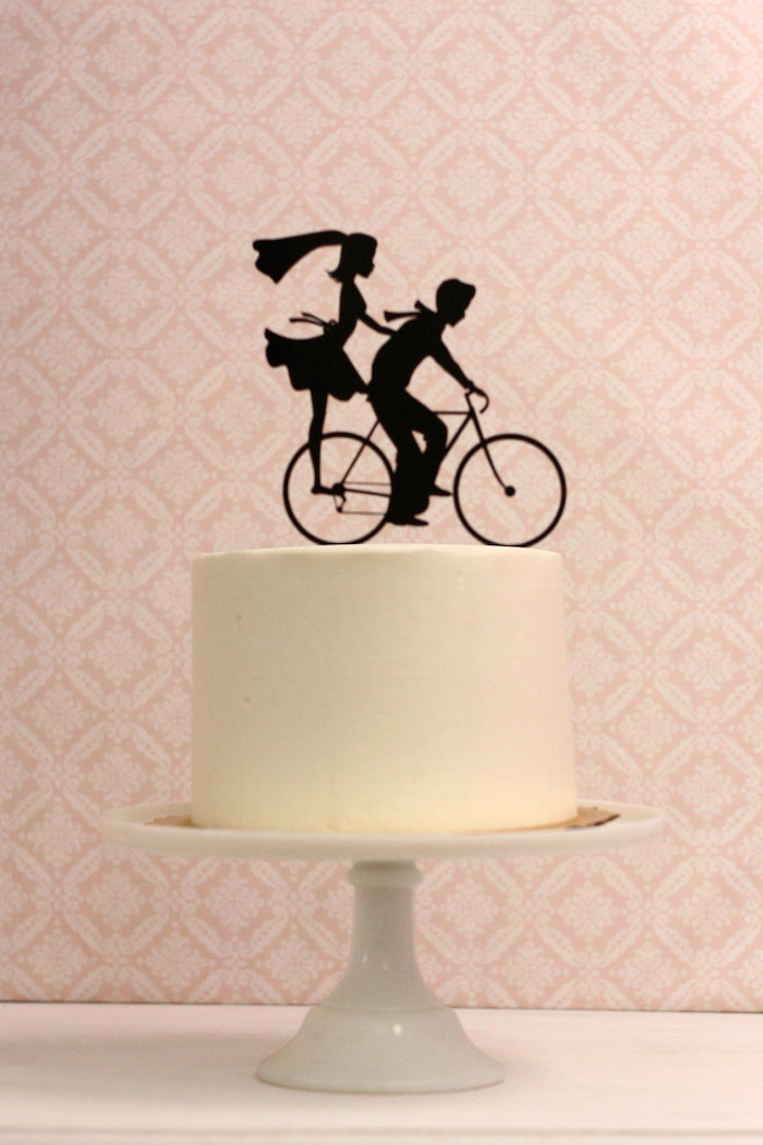 bicycle-silhouette-cake-topper