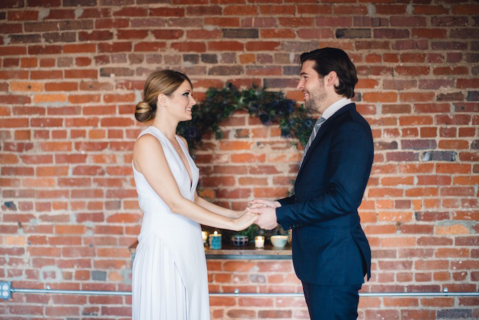 loft elopement ceremony