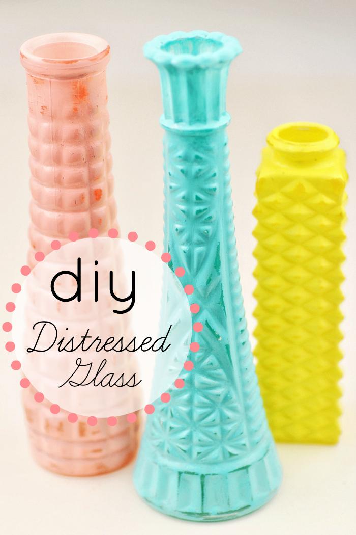 diy distressed glass