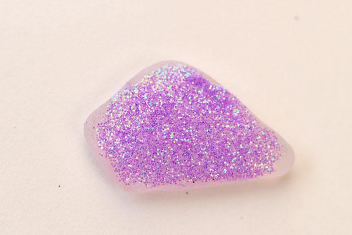 diy glitter gems