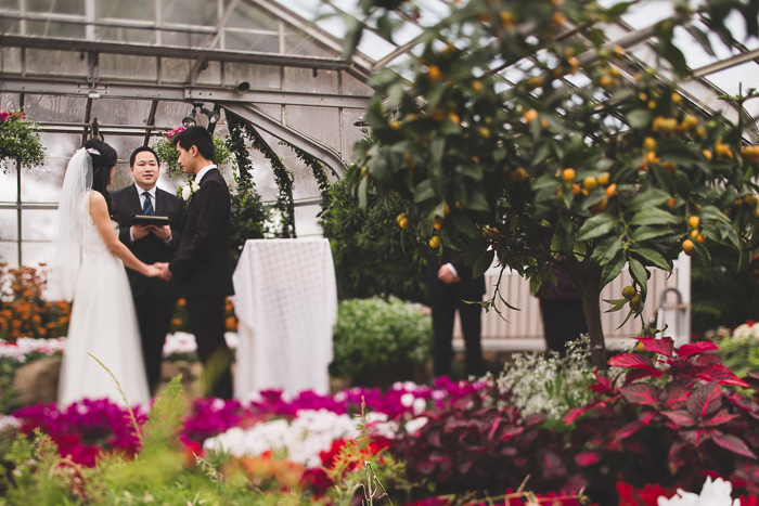 Centennial Conservatory wedding ceremony