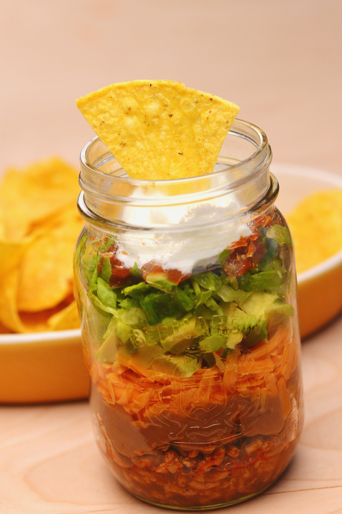 nachos in a jar