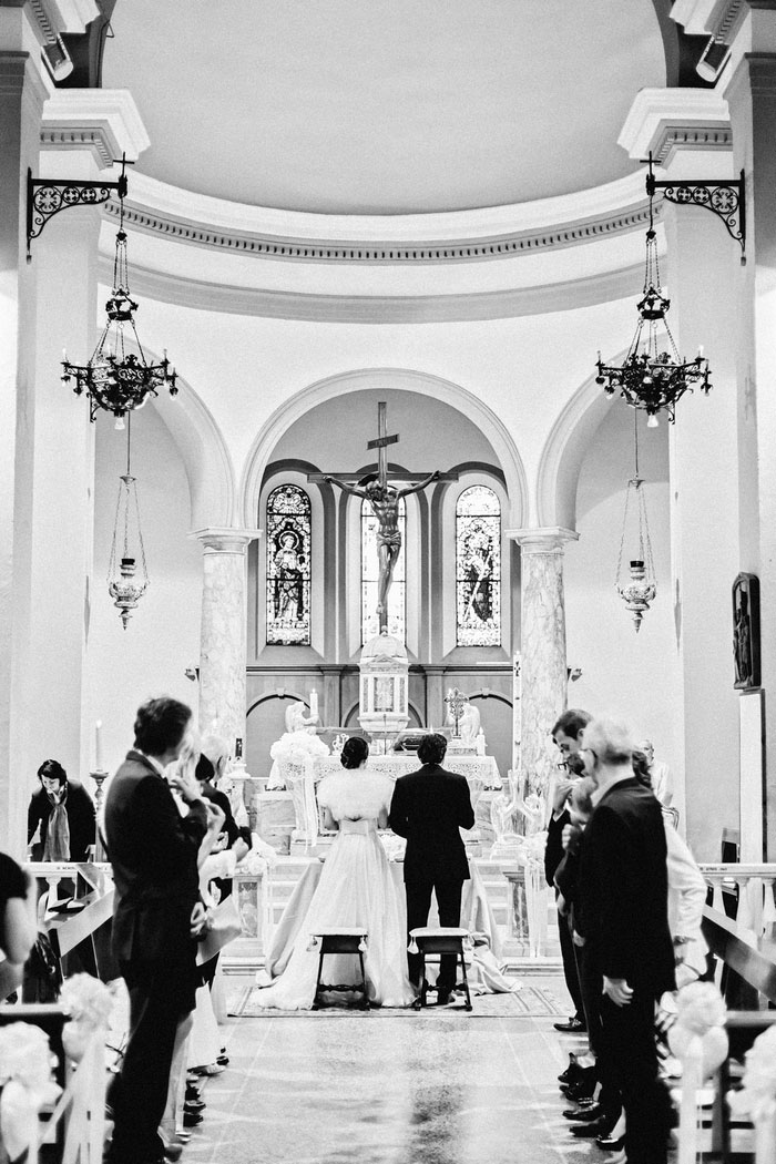 Tuscan church wedding