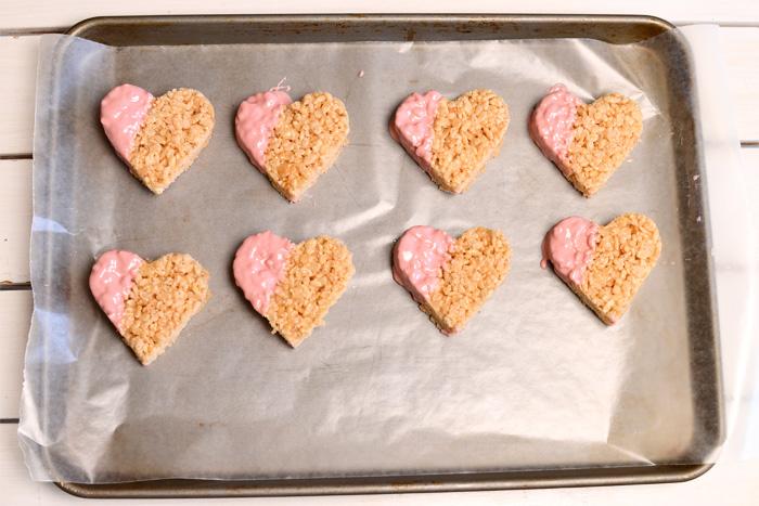 rice krispies treats hearts