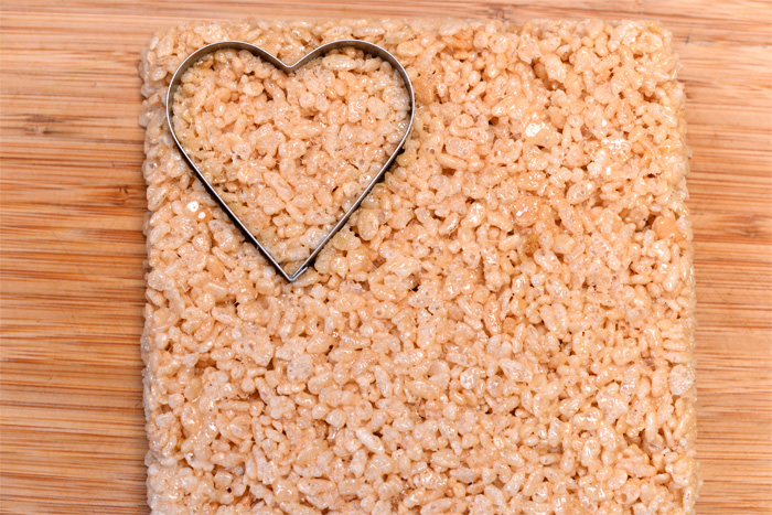 rice krispies treats hearts