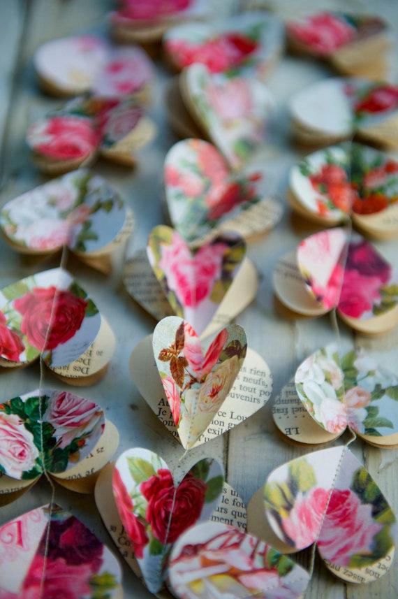 rose paper garland