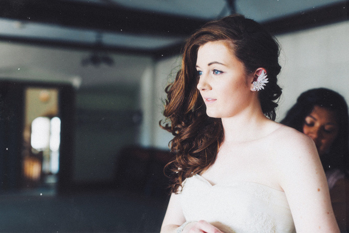 bride portrait while getting ready