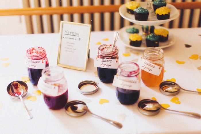 wedding drink syrups