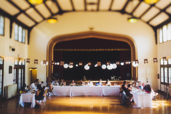 community centre wedding reception