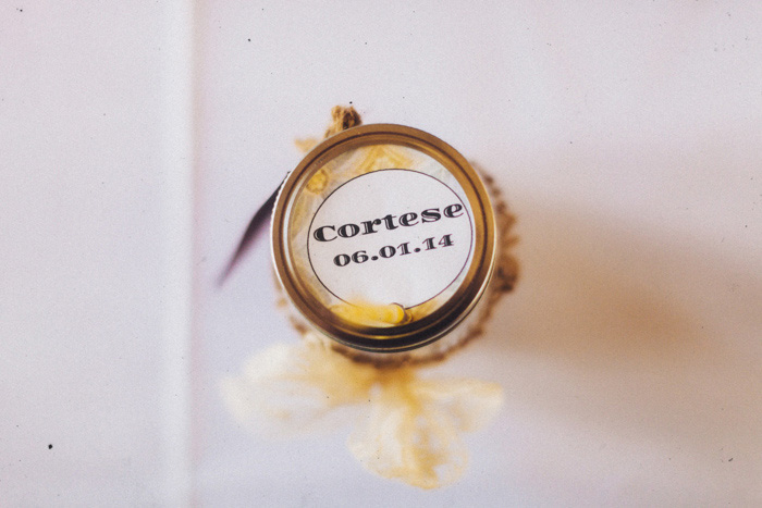 preserve wedding favor label
