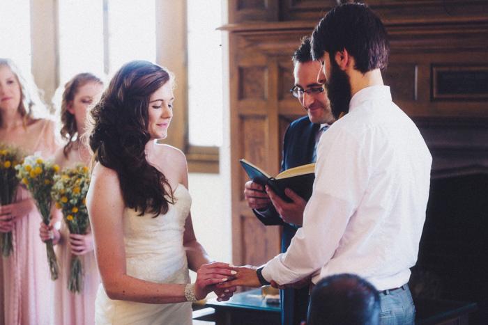 Community Center wedding ceremony
