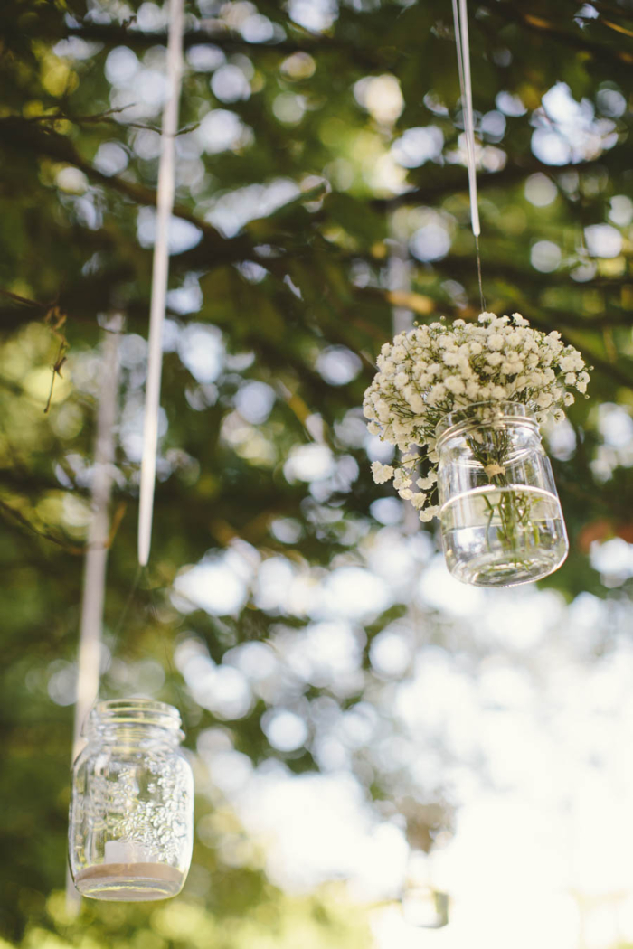 mason jar flowers