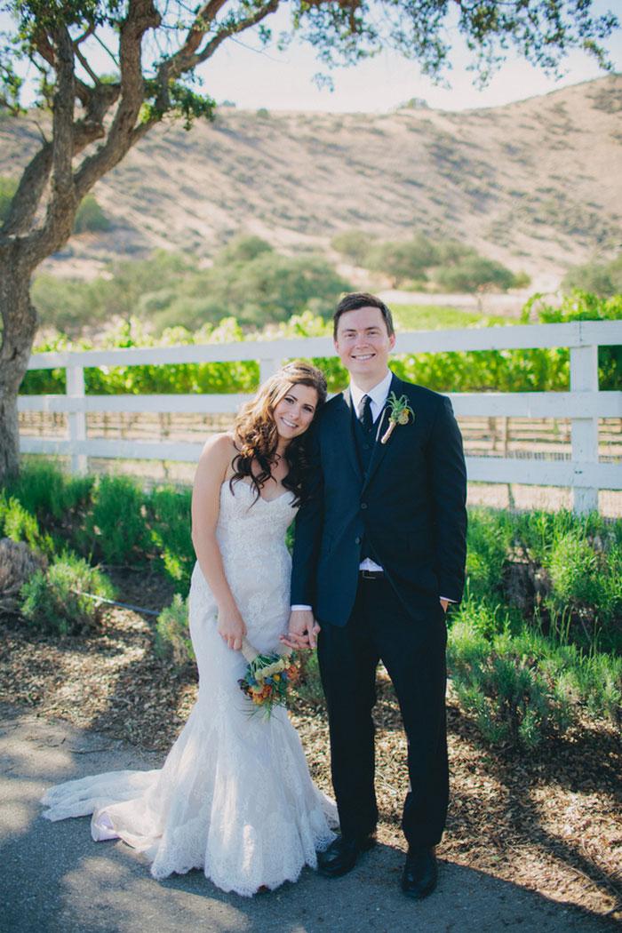 Intimate California wedding
