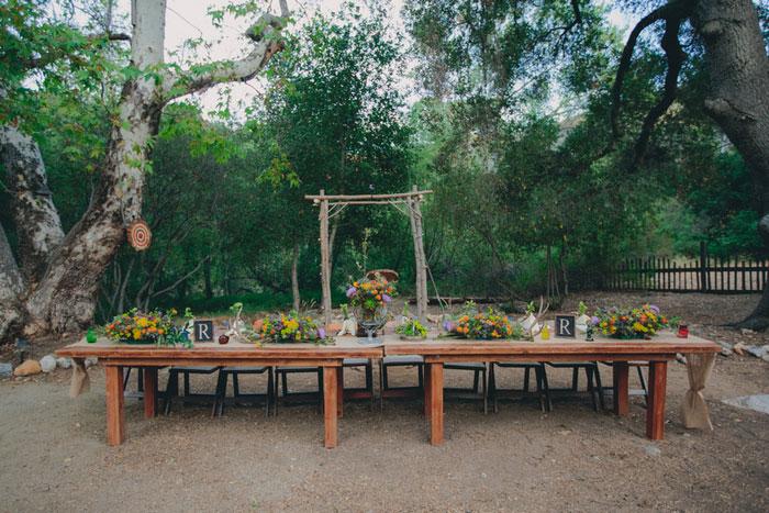 head table set up outside