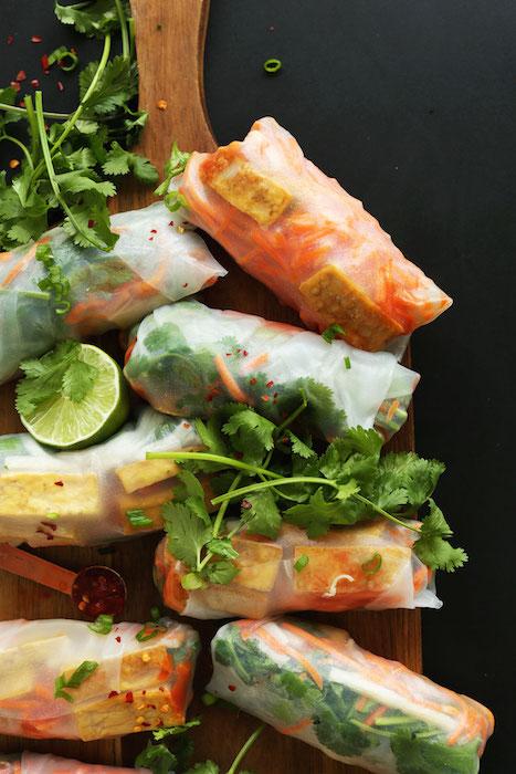 bahn-mi-spring-rolls