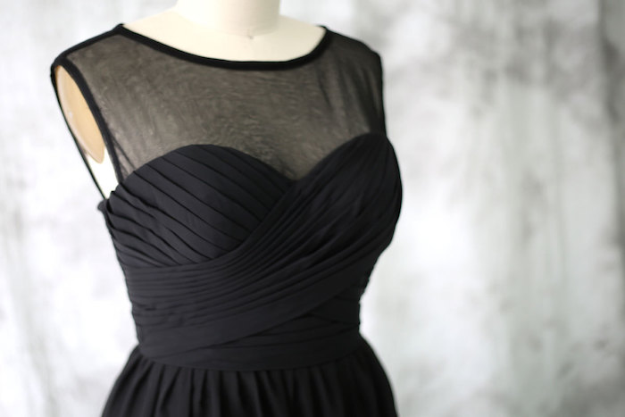 black-bridesmaid-dress