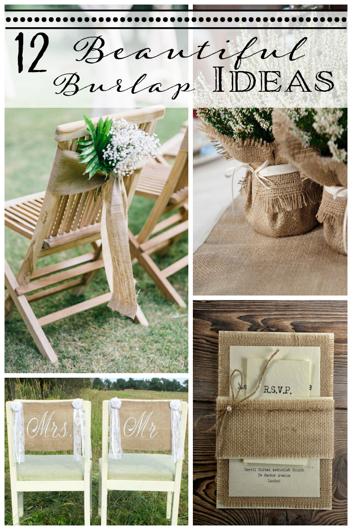 burlap decorating ideas for weddings 12 burlap wedding decor ideas 2137
