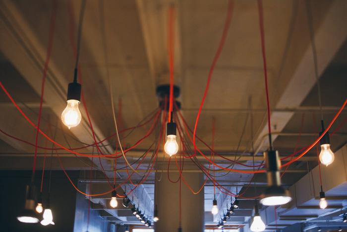 hanging lightbulb installation