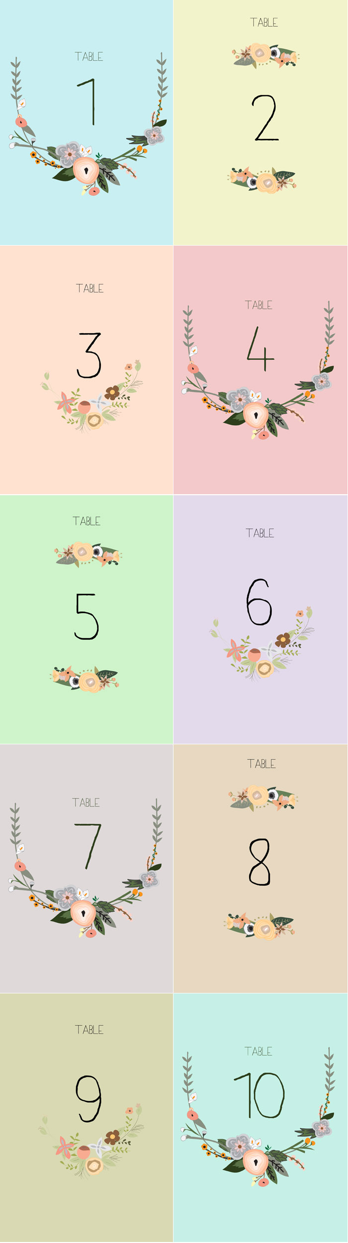 photo relating to Table Number Printable identified as No cost Printable Desk Quantities