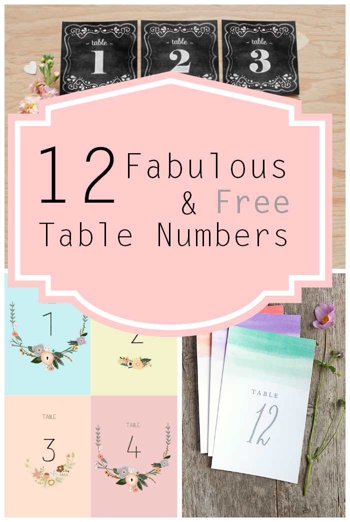 image relating to Printable Table Number referred to as No cost Printable Desk Figures
