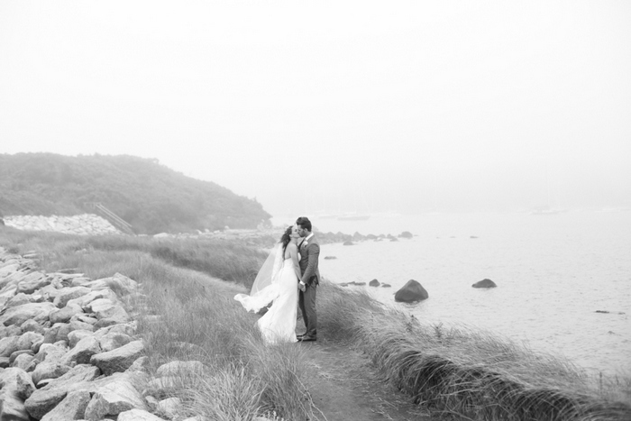 wedding portrait by the sea