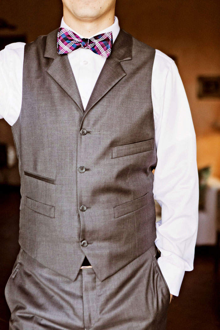 groom in vest
