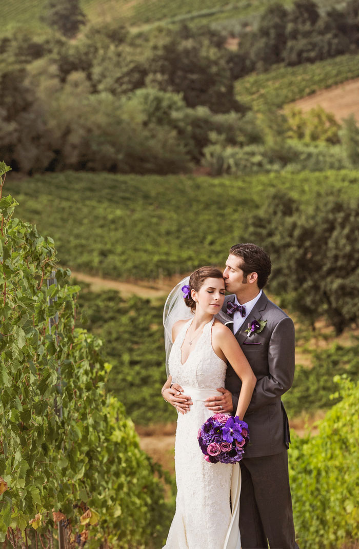 Tuscan wedding portrait