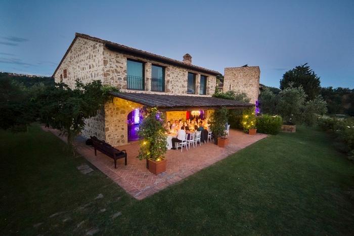 Tuscan Villa reception dinner