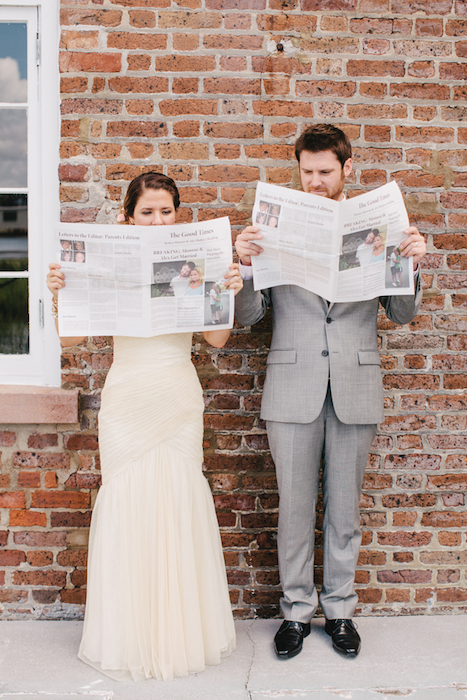 newspaper-wedding-program