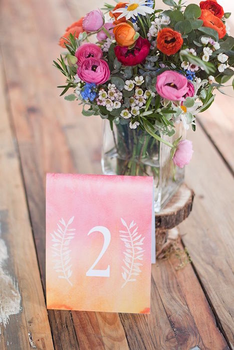 ombre-table-number