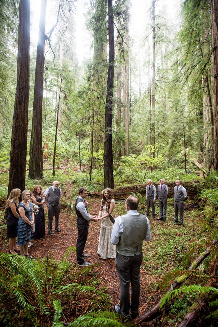 Redwoods State Park wedding ceremony