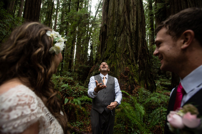officiant flipping coin