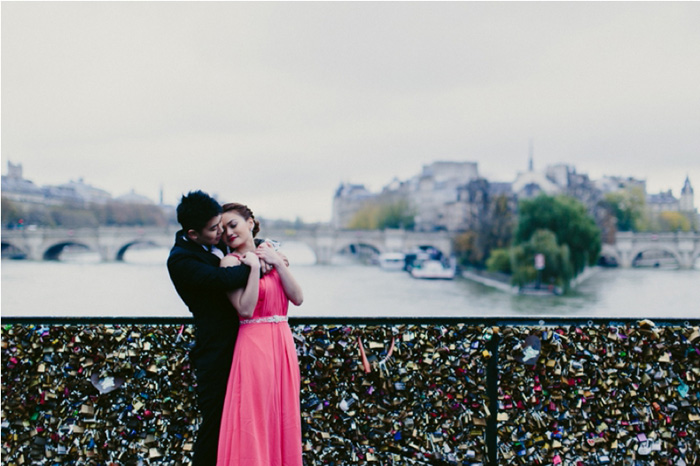 bride and groom by locks of love