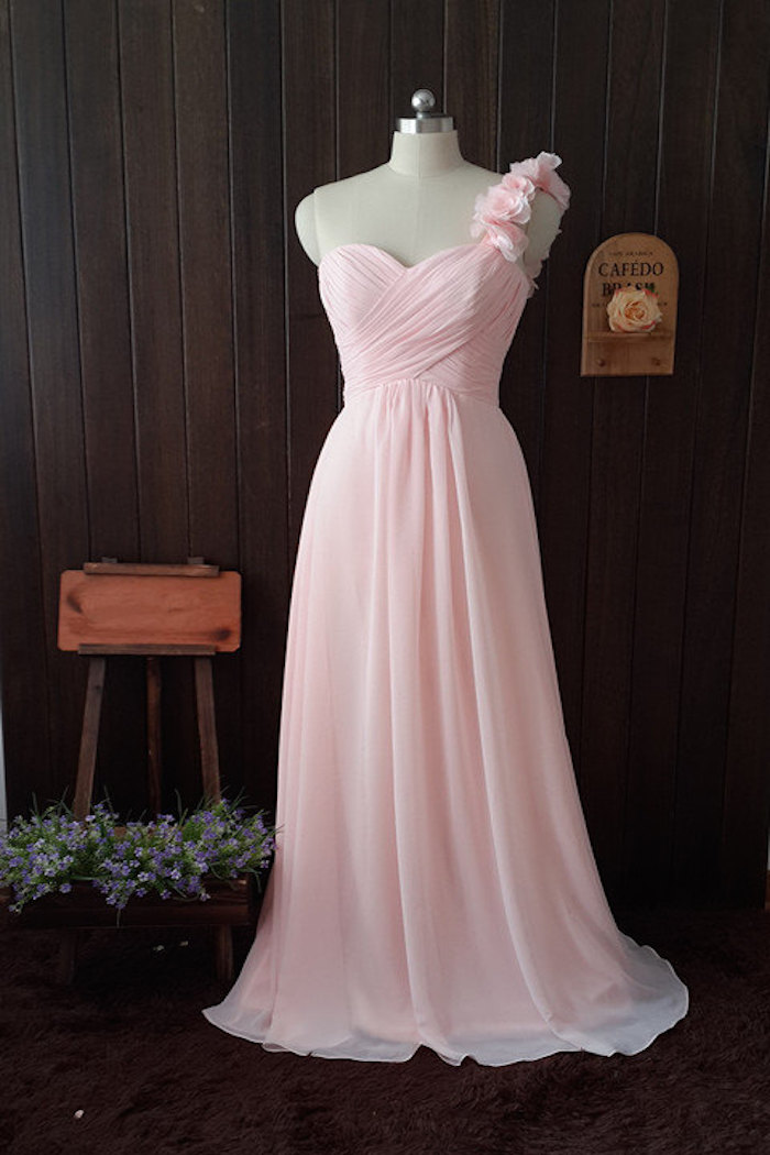 pearl-pink-bridesmaid-dress