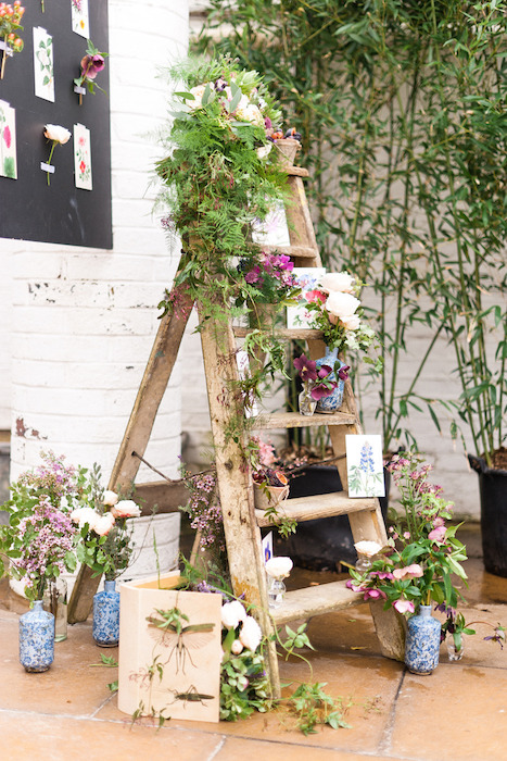 rustic-ladder-display