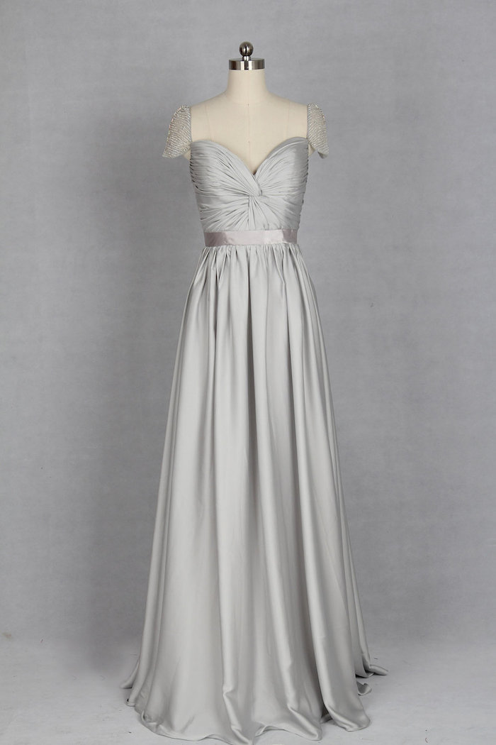silver-bridesmaid-dress